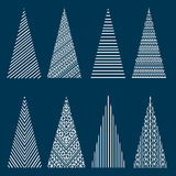 Stylized Christmas trees Royalty Free Stock Photo