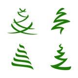 Stylized Christmas Trees Set Royalty Free Stock Image
