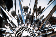 The stylized of chromeplated wheel Royalty Free Stock Image