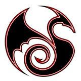Stylized circular dragon Royalty Free Stock Photos