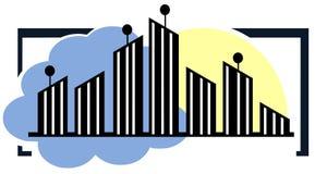 Stylized city Stock Image