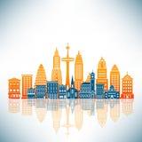 A Stylized City Stock Image