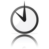 Stylized clock Royalty Free Stock Photos