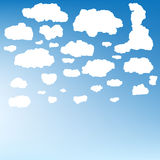 Stylized cloud silhouettes set. EPS 10 Royalty Free Stock Image