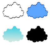 Stylized clouds Royalty Free Stock Photo