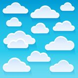 Stylized clouds theme image 1 Stock Images
