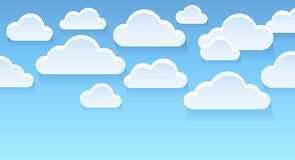 Stylized clouds theme image 2 Stock Photo