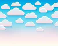 Stylized clouds theme image 5 Stock Image