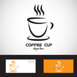 Stylized coffe cup logo Stock Photos