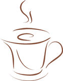 Stylized Coffee Cup Stock Photography