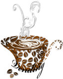 Stylized coffee cup Royalty Free Stock Photo