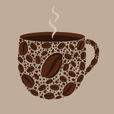 Stylized coffee cup stock illustration