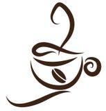 Stylized Coffeecup Stock Image