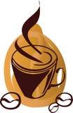 stylized coffekopp Arkivbild