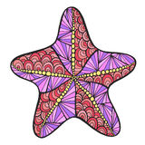 Stylized colored starfish. Royalty Free Stock Image