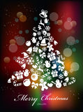 Stylized Colorful Background with Christmas Royalty Free Stock Photo