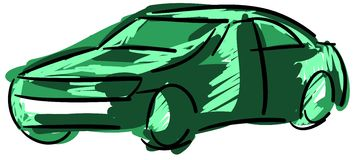 Stylized colorful car with shadow  Stock Photo