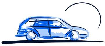 Stylized colorful car  Royalty Free Stock Image