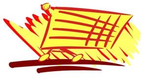 Stylized colorful shopping cart isolated Royalty Free Stock Image