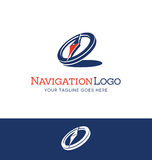 Stylized compass logo Royalty Free Stock Images