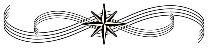 Stylized compass rose tasttoo isolated in black and white royalty free illustration