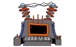 Stylized Computer Terminal Stock Images