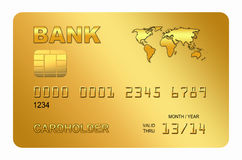 Stylized credit card Royalty Free Stock Photography