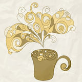 Stylized cup of coffee Royalty Free Stock Photo