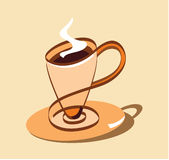 Stylized cup of coffee Stock Photography