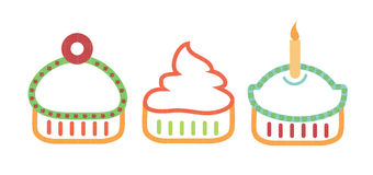 Stylized Cupcakes Stock Photography