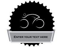 Stylized cyclist design Royalty Free Stock Images