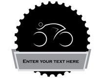 Stylized cyclist design. Illustration image stock illustration