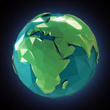 Stylized 3d Earth Royalty Free Stock Photo