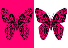 Stylized damask butterfly Stock Photography