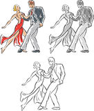 Stylized Dancers. Stylized drawing of people dancing.  Can be used for anything Stock Photos