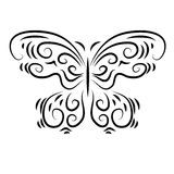 Stylized decorative beautiful ornamental butterfly Stock Photography