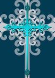 Stylized decorative blue cross Royalty Free Stock Photography