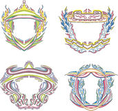 Stylized decorative flaming frames Stock Photo