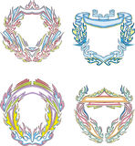 Stylized decorative flaming frames Stock Photo