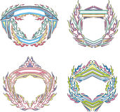 Stylized decorative flaming frames Royalty Free Stock Photography