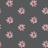 Stylized decorative pointsettia christmas seamless pattern desig Royalty Free Stock Photo