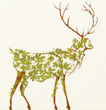 Stylized deer Royalty Free Stock Photos