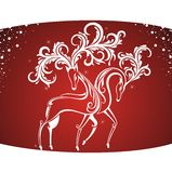 Stylized deers Stock Images