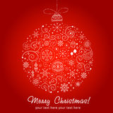 Stylized design Christmas decoration Stock Image