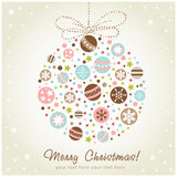 Stylized design Christmas decoration Royalty Free Stock Photography