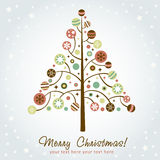 Stylized design Christmas tree Royalty Free Stock Photo