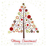 Stylized design Christmas tree Royalty Free Stock Photography