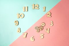 Stylized dial clock stock photos