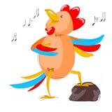 Stylized digital art rooster vector illustration