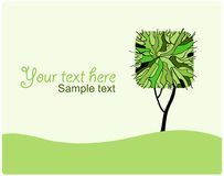 stylized din treevektor för design illustration Arkivbilder